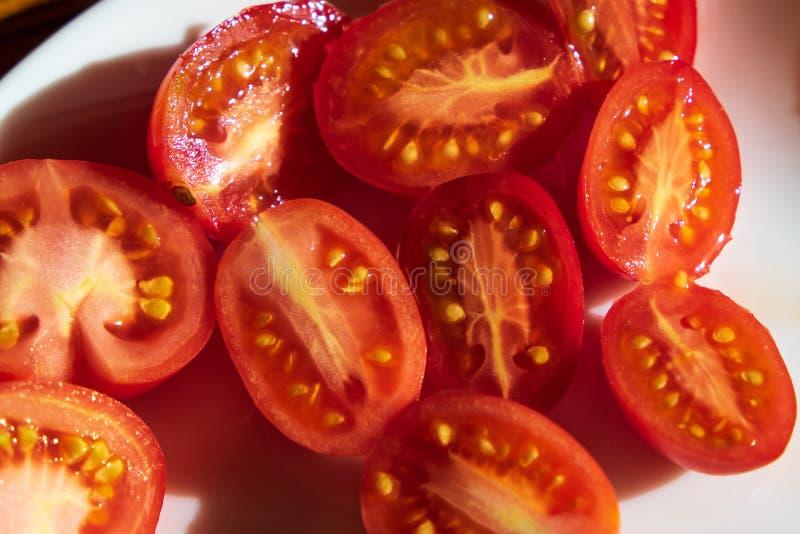 gesneden tomaten †‹â€ ‹ royalty-vrije stock fotografie
