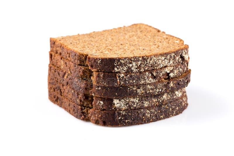 Gesneden van roggebrood stock afbeelding