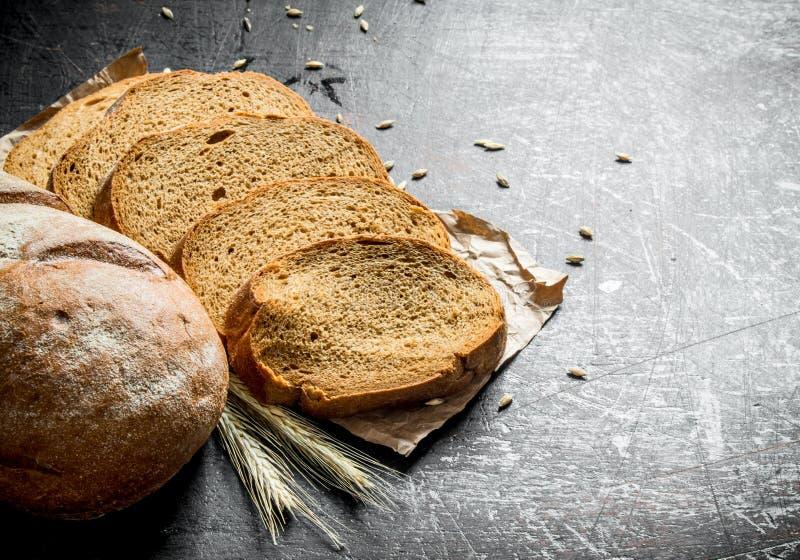 Gesneden vers brood royalty-vrije stock foto
