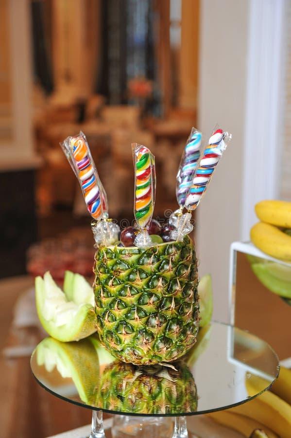 Gesneden vruchten regeling stock afbeelding
