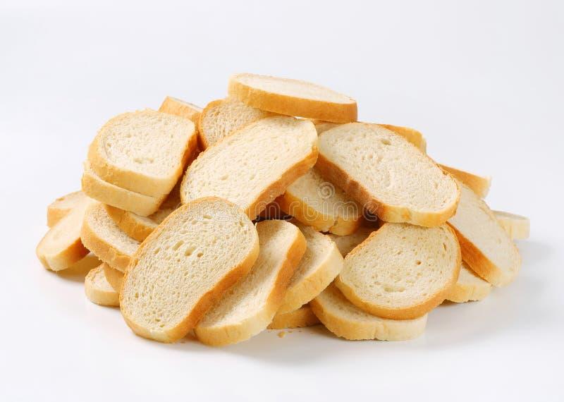 Gesneden wit brood royalty-vrije stock foto's
