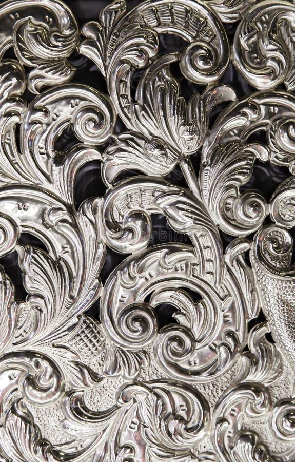Gesneden zilver stock foto