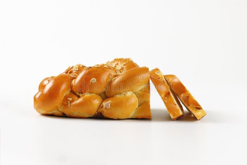 Gesneden zoet gevlecht brood royalty-vrije stock fotografie