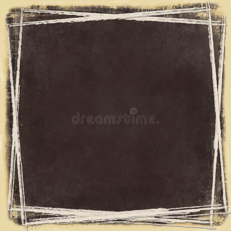 Gespannen Grungy Frame Stock Fotografie
