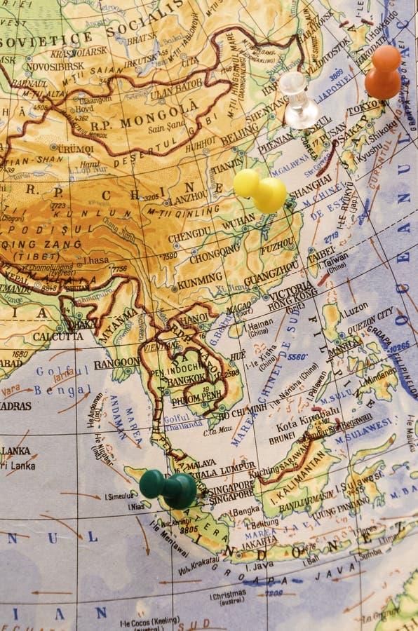 Gespelde Aziatische stedenbestemming stock foto