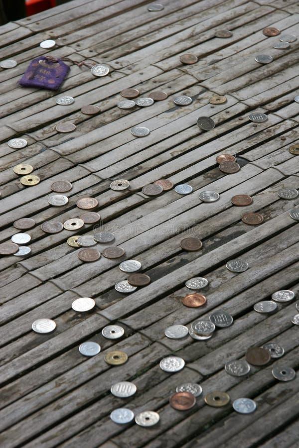 Gespendete Münzen lizenzfreie stockbilder