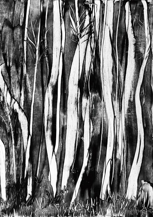 Gespenstischer Baumwachsanstrich vektor abbildung