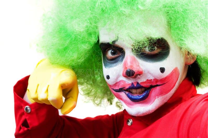Gespenstischer Clown stockfoto