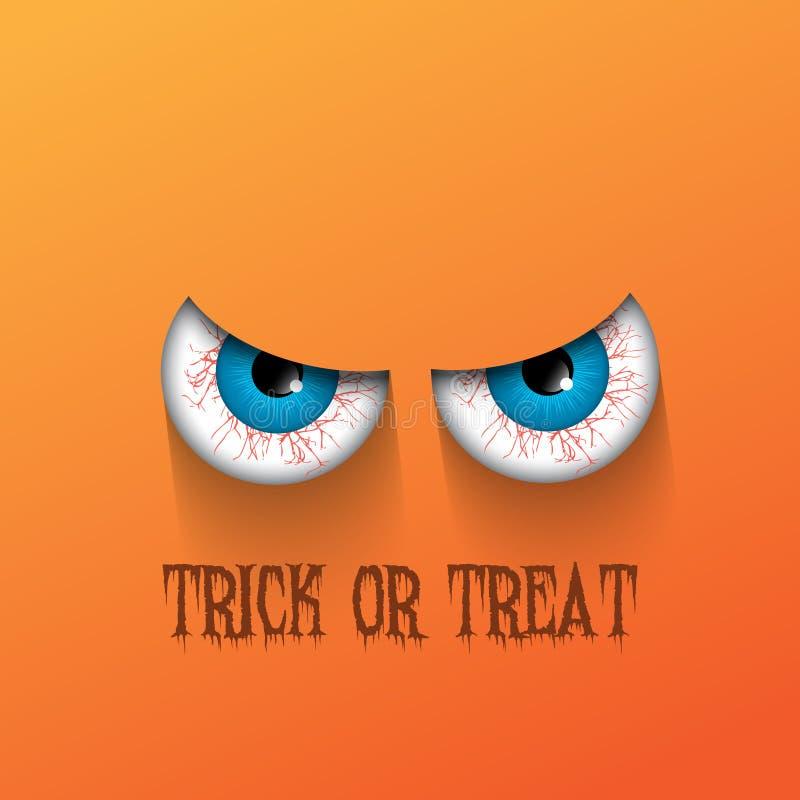 Gespenstischer Halloween-Hintergrund lizenzfreie abbildung