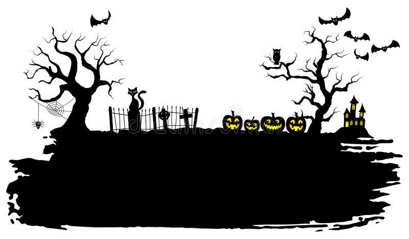 Gespenstischer Halloween-Hintergrund vektor abbildung