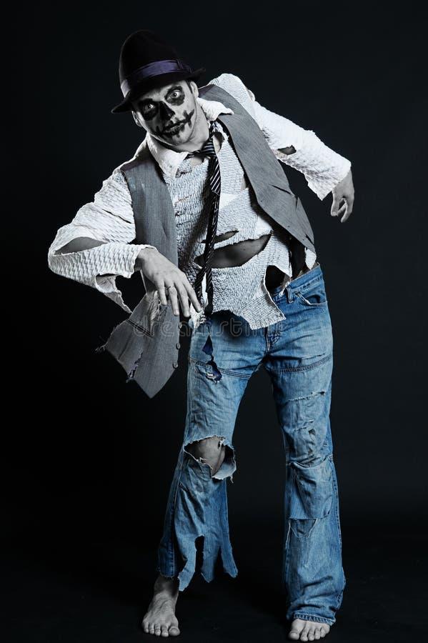Gespenstischer Mann vom Albtraum stockfotografie