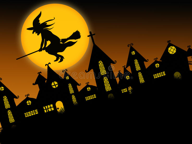 Gespenstisches Halloween 2 lizenzfreie abbildung