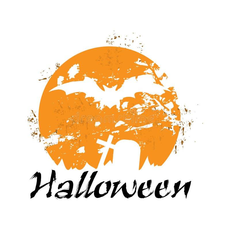Gespenstisches Halloween lizenzfreie abbildung