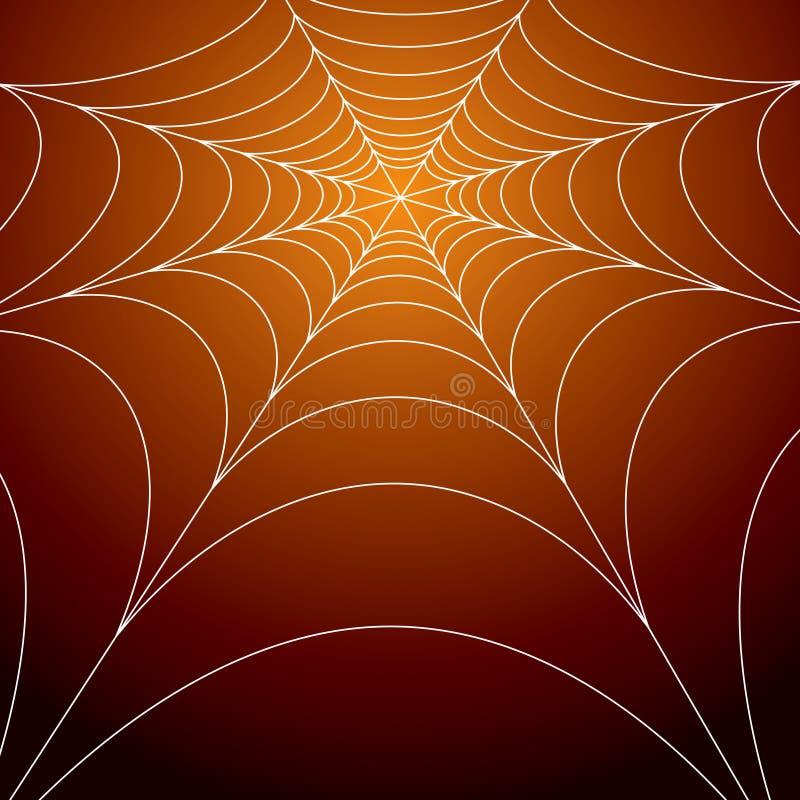 Gespenstisches Spinnenweb lizenzfreie abbildung