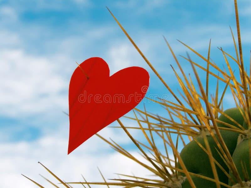 Gespietst hart stock afbeelding