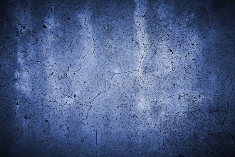 Gespleten concreet muurblauw royalty-vrije stock foto