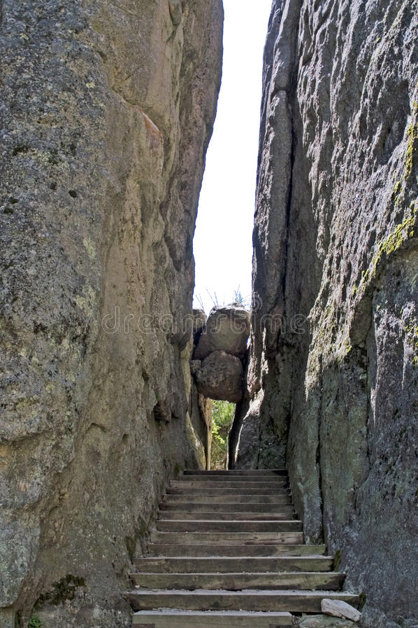 Gespleten in de rots, Zwarte Heuvels, Zuid-Dakota royalty-vrije stock foto's