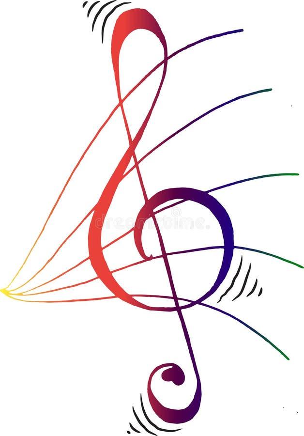 Gespleten drievoud - muziek royalty-vrije stock afbeeldingen