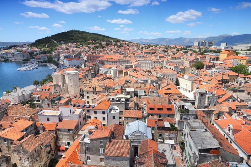 Gespleten Stad, Kroatië royalty-vrije stock fotografie