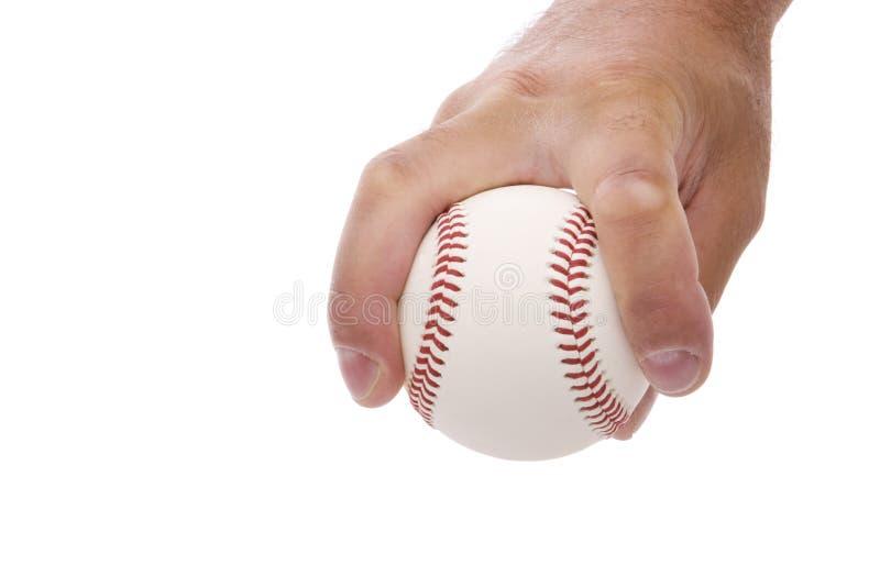 Gespleten vinger fastball greep royalty-vrije stock fotografie