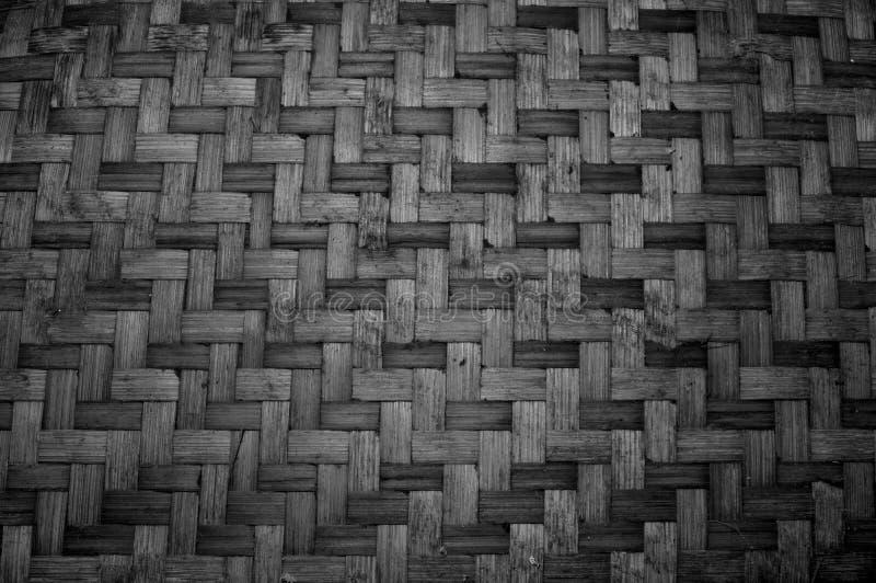 Gesponnene Bambusbeschaffenheit Muster- und Beschaffenheitshintergrund stockfoto