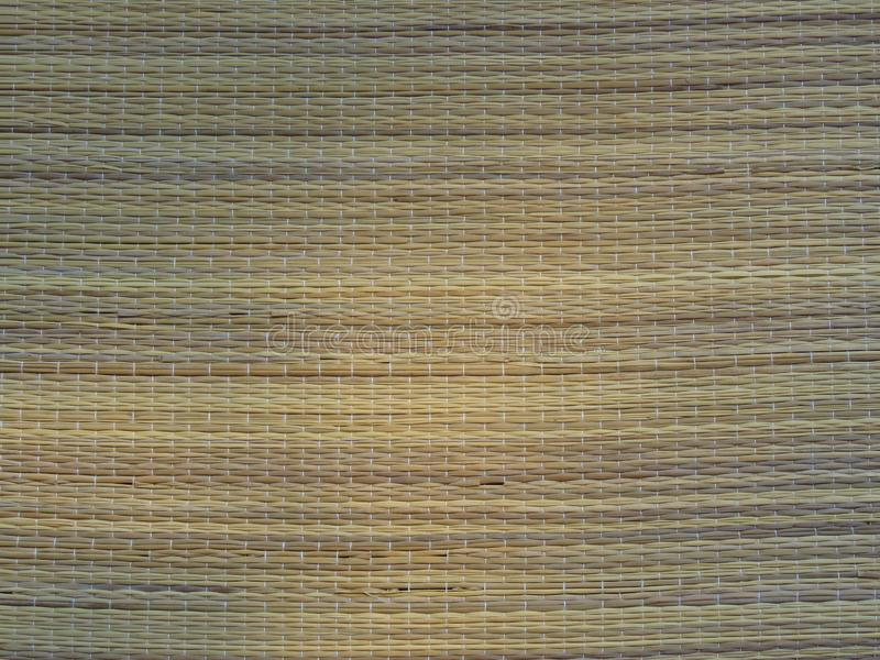 Gesponnener Bambus-Mat Background Straw Weave Texture Rustikaler Lebensstil lizenzfreie stockfotografie