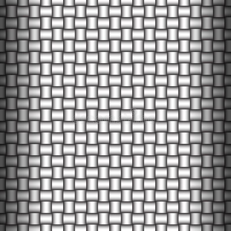 Gesponnener metallischer Hintergrund vektor abbildung