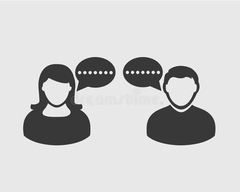 Gesprächs-Ikone Blasensymbol vektor abbildung