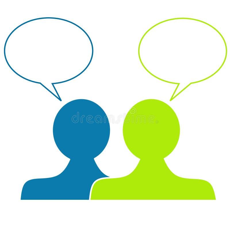 Gesprächs-Luftblasen-Köpfe lizenzfreie abbildung
