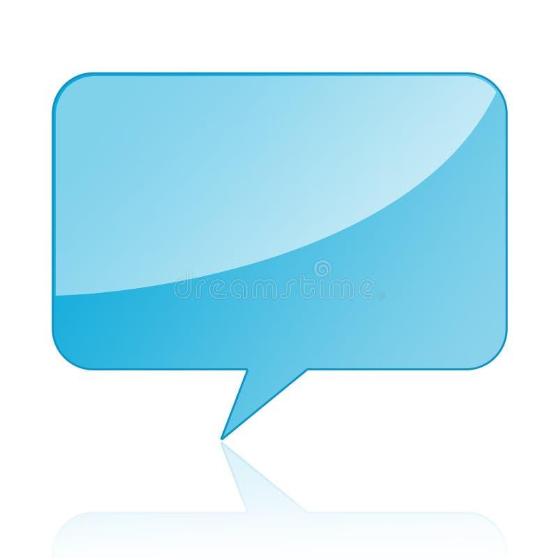 Gesprächsluftblase/Spracheluftblase stock abbildung