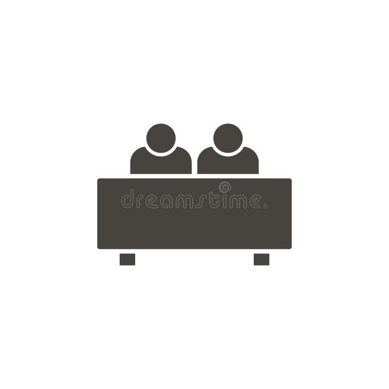 Gesprek, gebruikers vectorpictogram Eenvoudig element illustrationInterview, gebruikers vectorpictogram : stock illustratie