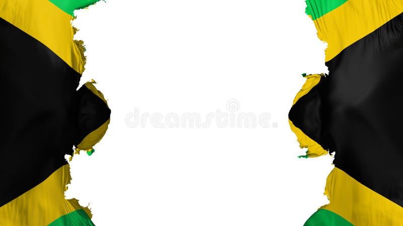 Gesprengte Jamaika-Flagge vektor abbildung