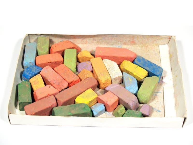 Gessetti per lavagna colorati immagini stock libere da diritti