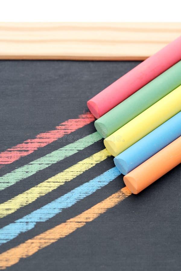 Gessi colorati fotografia stock libera da diritti