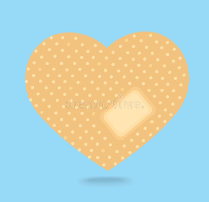 Gesso attaccante sul vettore dell'icona del cuore rotto illustrazione vettoriale
