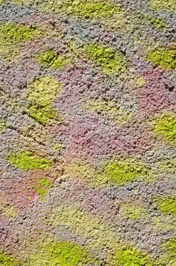 Gesso decorativo variopinto di sollievo sulla parete immagine stock