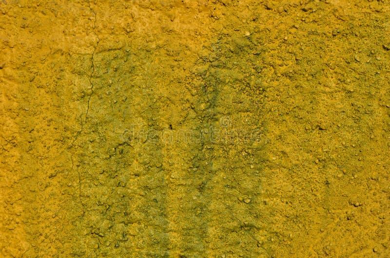 Gesso dipinto giallo e verde fotografia stock