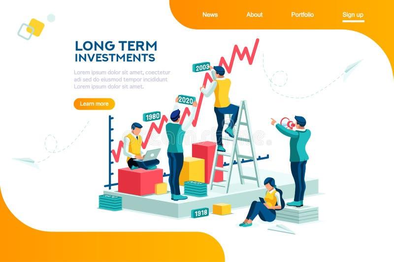 Gestão alternativa Infographic do progresso da empresa ilustração stock