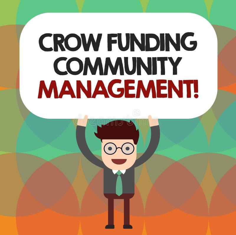 Gestão conceptual da comunidade do financiamento do corvo da exibição da escrita da mão Projeto apresentando do fundo do risco da ilustração royalty free