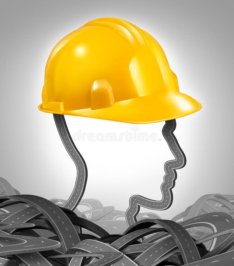 Gestão da construção de estradas ilustração stock