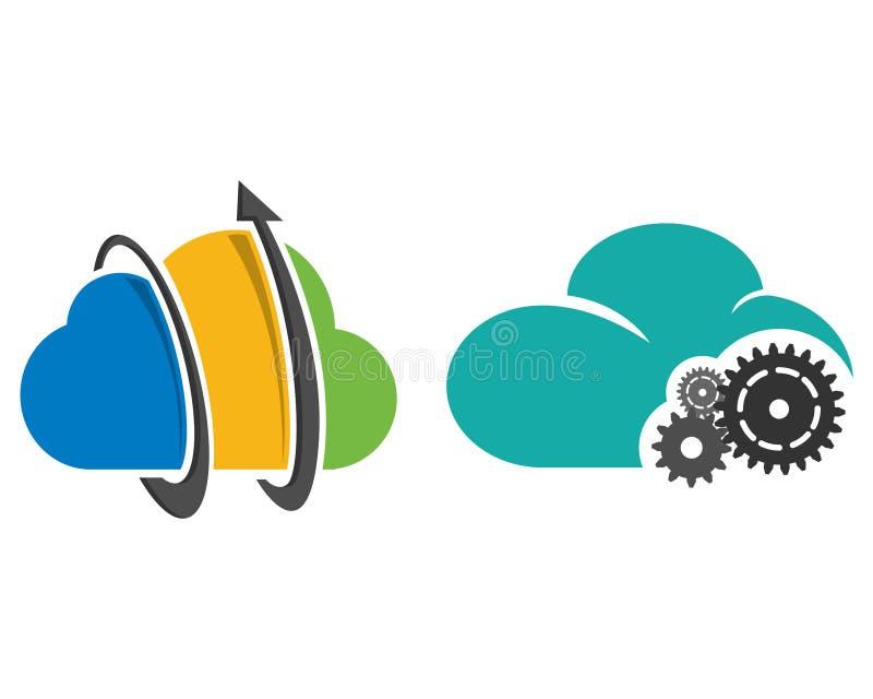 Gestão da nuvem ilustração stock