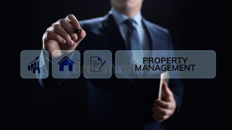 A gestão da propriedade é a operação, o controle, e o descuido de bens imobiliários Conceito do negócio imagem de stock royalty free