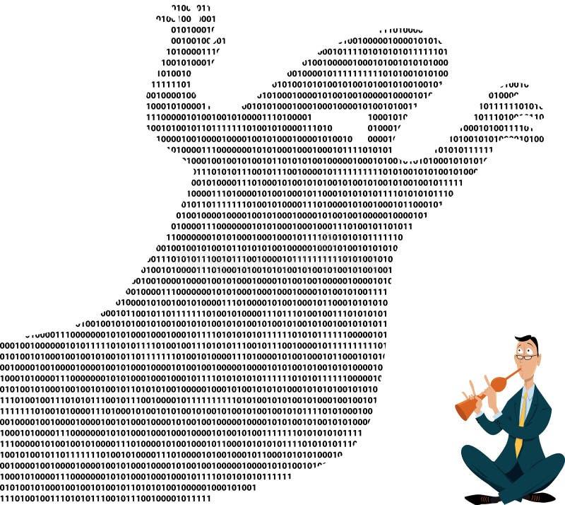 Gestão da sobrecarga dos dados ilustração do vetor