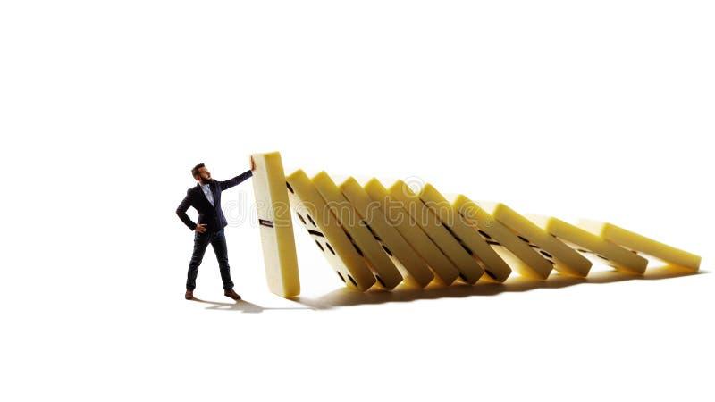 Gestão de crise do negócio e conceito da solução fotografia de stock royalty free