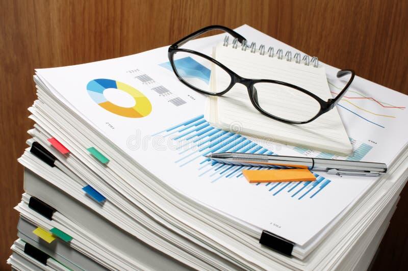 Gestão de original paperwork Conceito do negócio fotos de stock royalty free