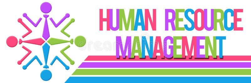 Gestão de recursos humanos colorida ilustração royalty free