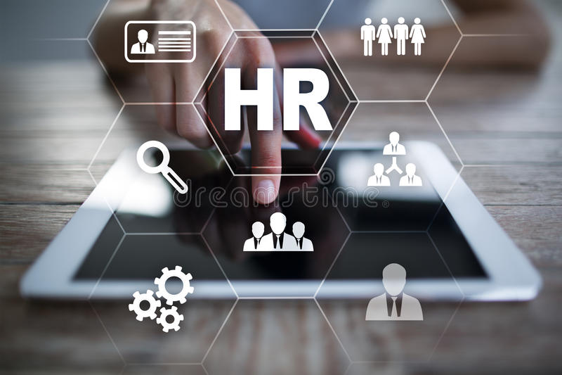Gestão de recursos humanos, hora, recrutamento e teambuilding Conceito do negócio foto de stock royalty free