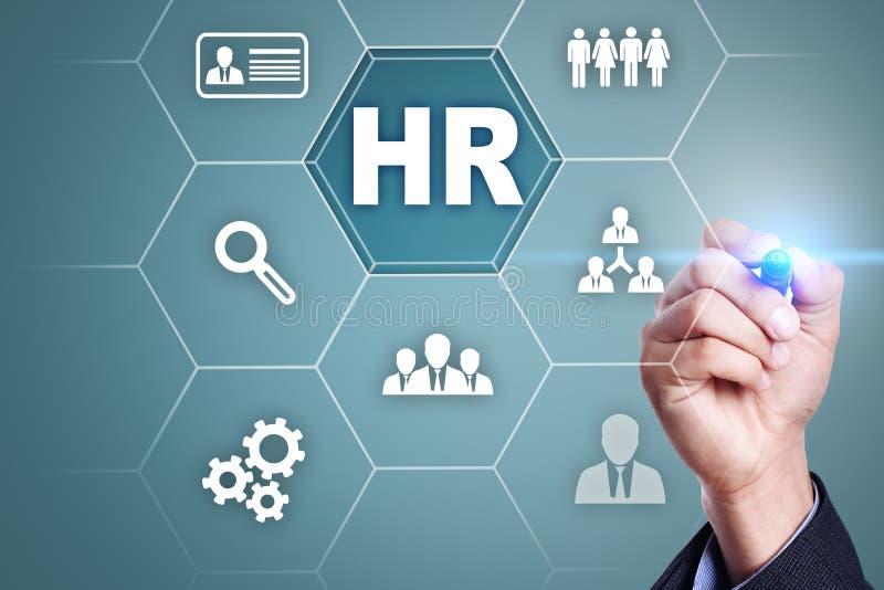 Gestão de recursos humanos, hora, recrutamento, liderança e teambuilding imagens de stock royalty free