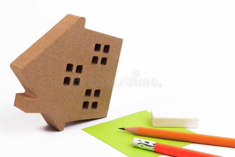 Gestão de riscos da propriedade Seguro de risco da casa foto de stock