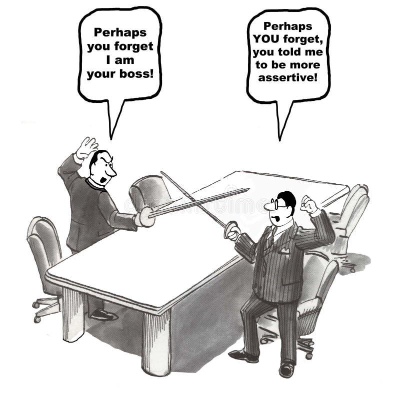 Gestão do conflito ilustração stock